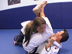 Athletic teen karate girl Megan Fenox
