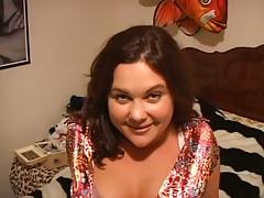 Brunette amateur home video slut Holly