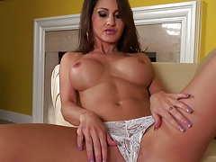 Big tits Evelin Rain spreading pussy and dildo masturbation