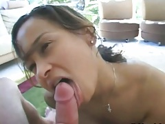 Pov blowjob from girl with ass licking mans ass