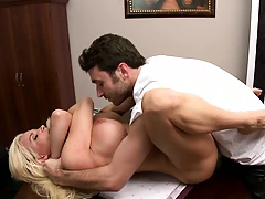 Diamond getting her ass and pussy finger fucked office