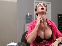 Big tits Jewels is all sweaty in office