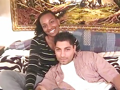 Ebony amateur Tina and her bf home video