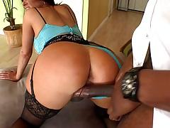 Big tits milf Tiffany Mynx doggy style fucking huge black cock