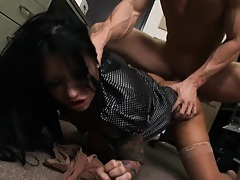 Masons screams as her boss pounds her face down ouch