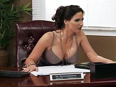 Office with busty milf sluts
