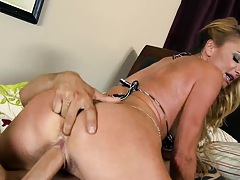 Finger into Taylors ass and reverse cow girl