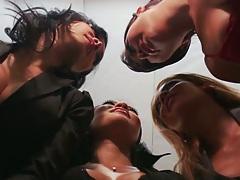 London Keyes and Asa Akira with Mia Lelani in office