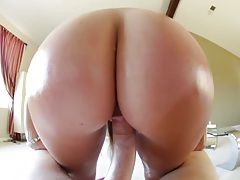 Reverse cowgirl oil ass fuck with Maddy O and tanlines