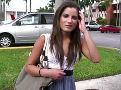 Bangbus pickup of teen Chichi in public