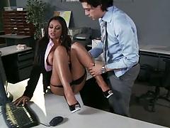 Big tits Priya Anjali Rai in the office getting nailed on the desk