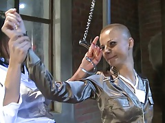 Fetish lesbian sluts Alison Star and C.j. play with ropes