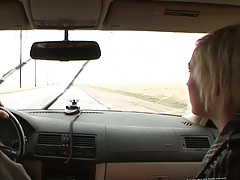 Picked up teen hitchhiker Molly Rae going home to fuck guy
