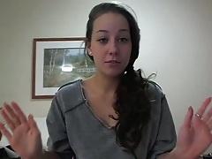 Teen gf talking on her own webcam alone