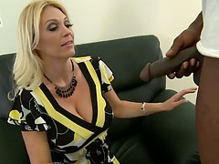 Big tits blonde mil sucking huge black cock