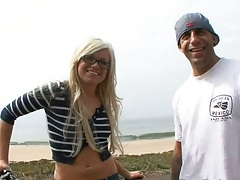 Blonde teen in public Chase Taylor on the road