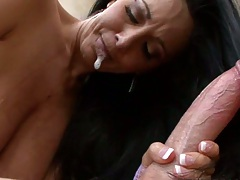 Perfect titty fuck with oily tits Ava adams