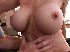 Big tits milf McKenzie plays with big boobs