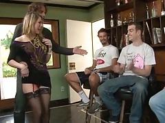 Group gang bang sex with big tits shaved pussy Amber Ashlee