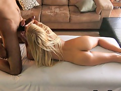 Private massage time with medium tits Carmen Monet and sex