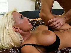 Holly screams while dude fucks her hard
