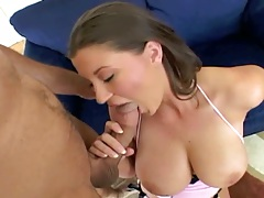 Blowjob with natural big boobs Sara Stone