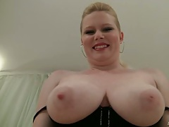 Veronika F showing awesomely large tits solo