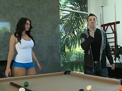 Playin some sexy pool with Kelli Staxxx and Madison Rose