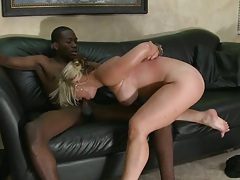 Large black cock and a busty blonde milf boss