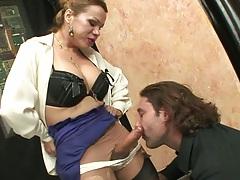 Transsexual blowjob from Miresa T