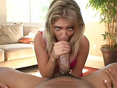 Huge black cock for 18 year old skank Jaelyn Fox in pov sucking