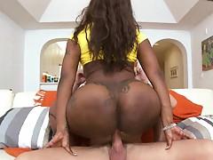 Big tits ebony slut with a big juicy round ass