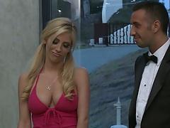 Big tits blondie Tasha Reign gets naked and uses vibrator