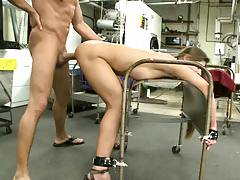 Tied to a fucking rack and penetrated from the back