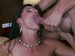 Milf sucked off lawyer and got a facial cumshot