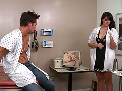 Big tits doctor doing some cock experiments