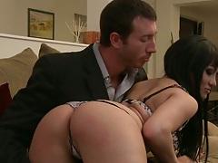 Hot milf ass brunette Gabriella Paltrova goes for cock sucking