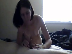 Brunette home video milf blowjob on webcam