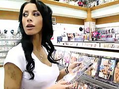 Mya Nicole visiting an adult store