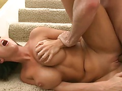 Doggy style anal punishment on the stairs