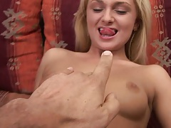 Ivana Sugar 18 year old sucking finger and balls in pov close up