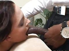 Big black cock Crissy Cumz interracial cock sucking