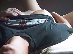 Amateur milf showing her goods on home cam