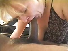 Interracial over 40 mature blowjob with slut Lynn Ross