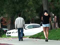 Shay Fox gets secret filming and dude spying on her