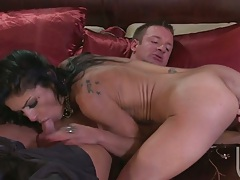 Persia Pele sucks cock and then sits on that dick