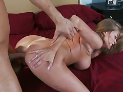Darla gets doggy fucked anal style and titty cumshot