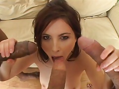 All those cocks filling Jessica Fiorentino mouth and double penetration group fuck