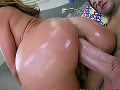 Great ass anal sex with Sheena Shaw getting that oiled up ass ripped