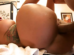 Monroe placed on massage table for prime anal